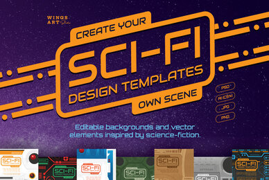 Sci Fi Icons and Templates