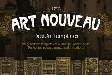 Art Nouveau Design Templates