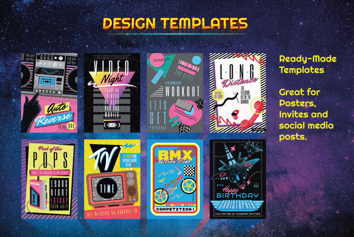 The Complete 1980s Graphics Bundle