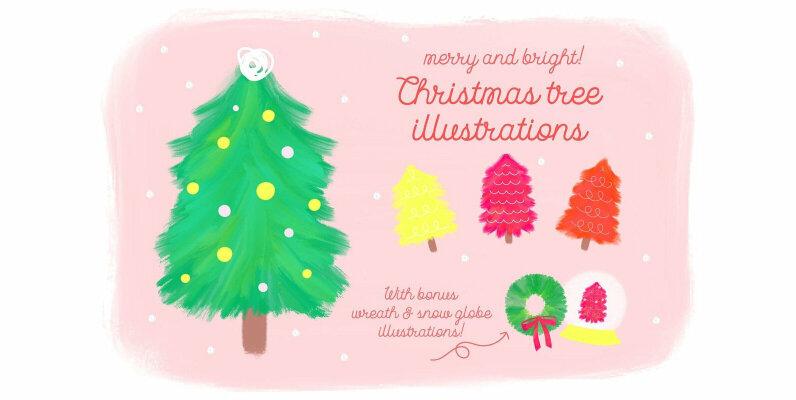 Merry   Bright Christmas Illustrations