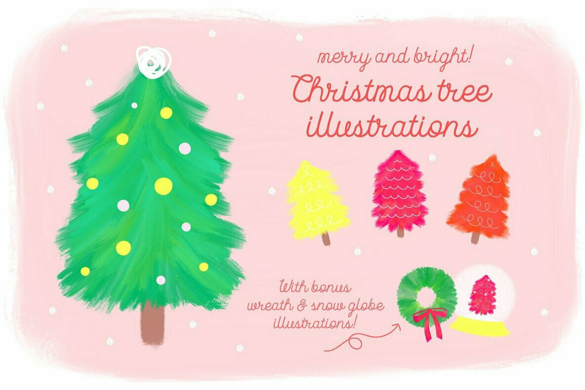 Merry   Bright Christmas Illustrations