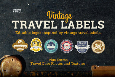 Vintage Travel Labels