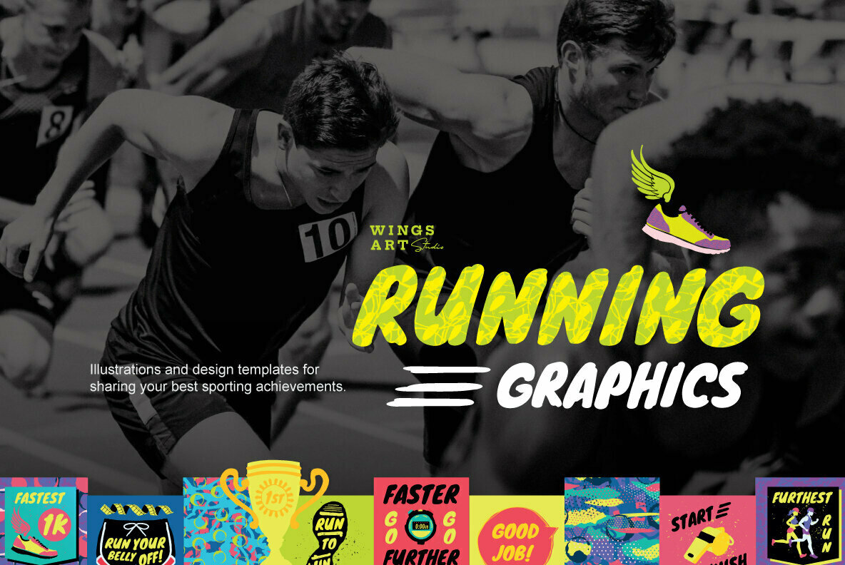 Running and Sports Graphics Bundle