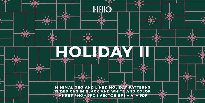 Minimalist Holiday Patterns