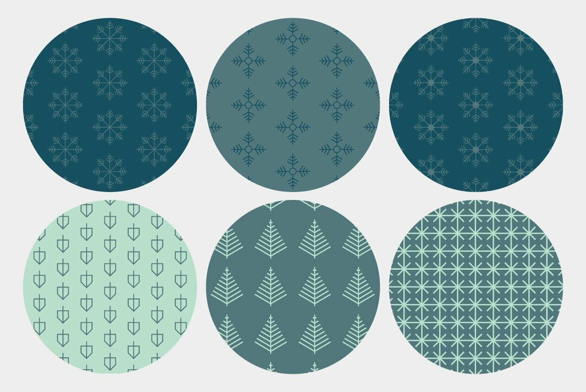 Minimalist Holiday Patterns