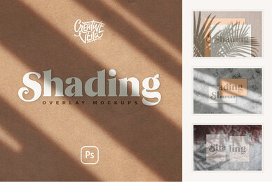 Shadow Overlay  Stationery Mockups