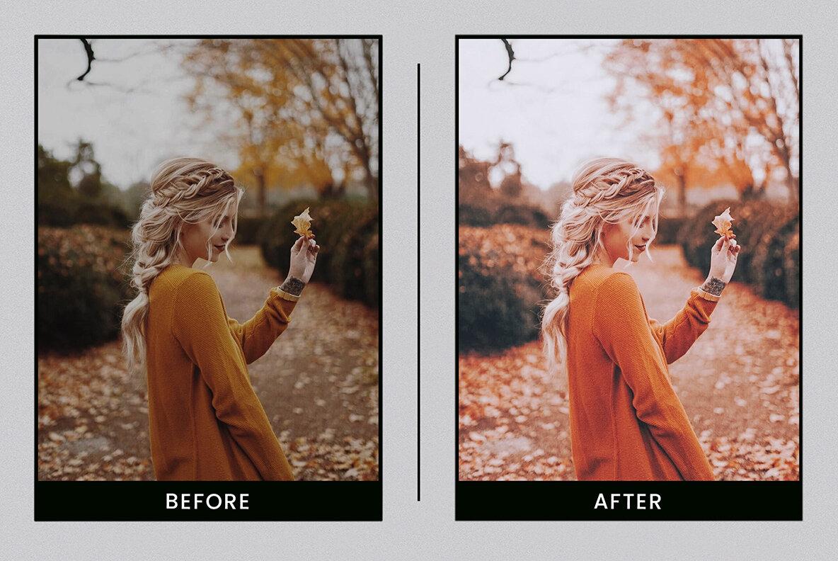 Autumn Leaves   Mobile   Desktop Lightroom Presets