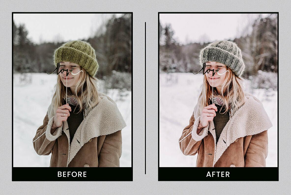 Winter Wonder   Mobile   Desktop Lightroom Presets