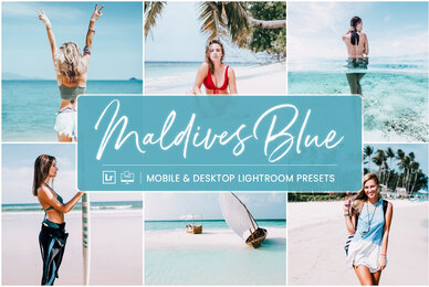 Maldives Blue   Mobile  Desktop Lightroom Presets