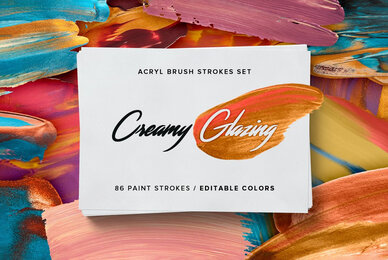 Creamy Glazing   Acryl Brush Strokes