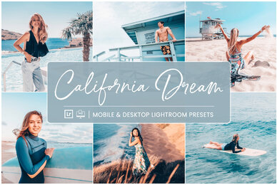 California Dream   Mobile  Desktop Lightroom Presets