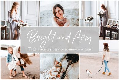 Bright and Airy   Mobile  Desktop Lightroom Presets