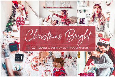 Christmas Bright   Mobile  Desktop Lightroom Presets