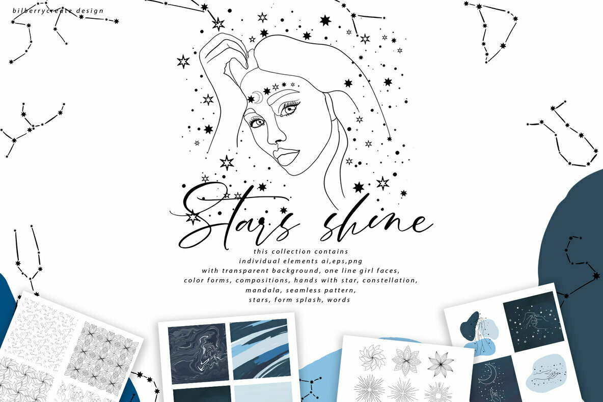 Stars Shine Art Set