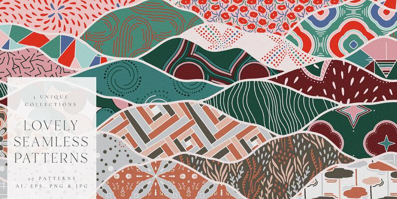 Lovely Seamless Patterns Kit