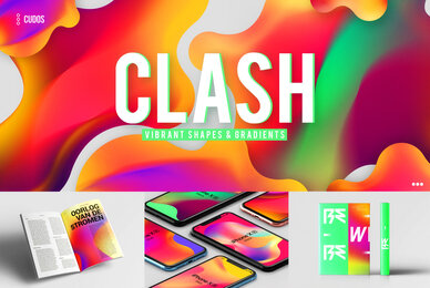CLASH   Vibrant Shapes  Gradients