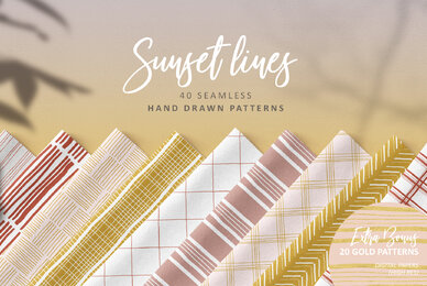 Sunset Lines Hand Drawn Patterns