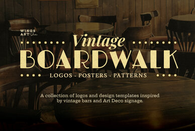 Art Deco Boardwalk Graphics Collection