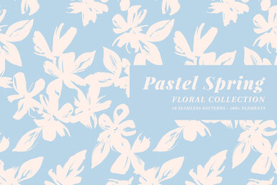 Pastel Spring Patterns  Illustrations Floral Collection