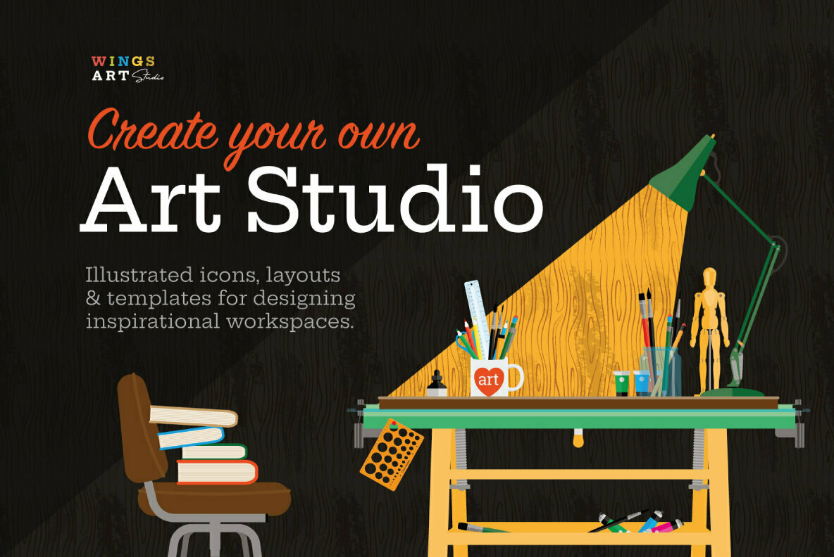 Art Studio Icons and Objects