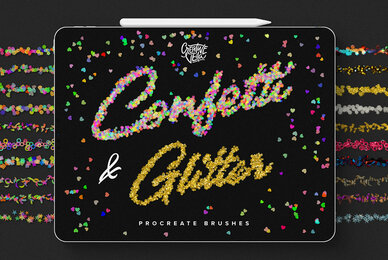 Confetti and Glitter Procreate Brushes Pack