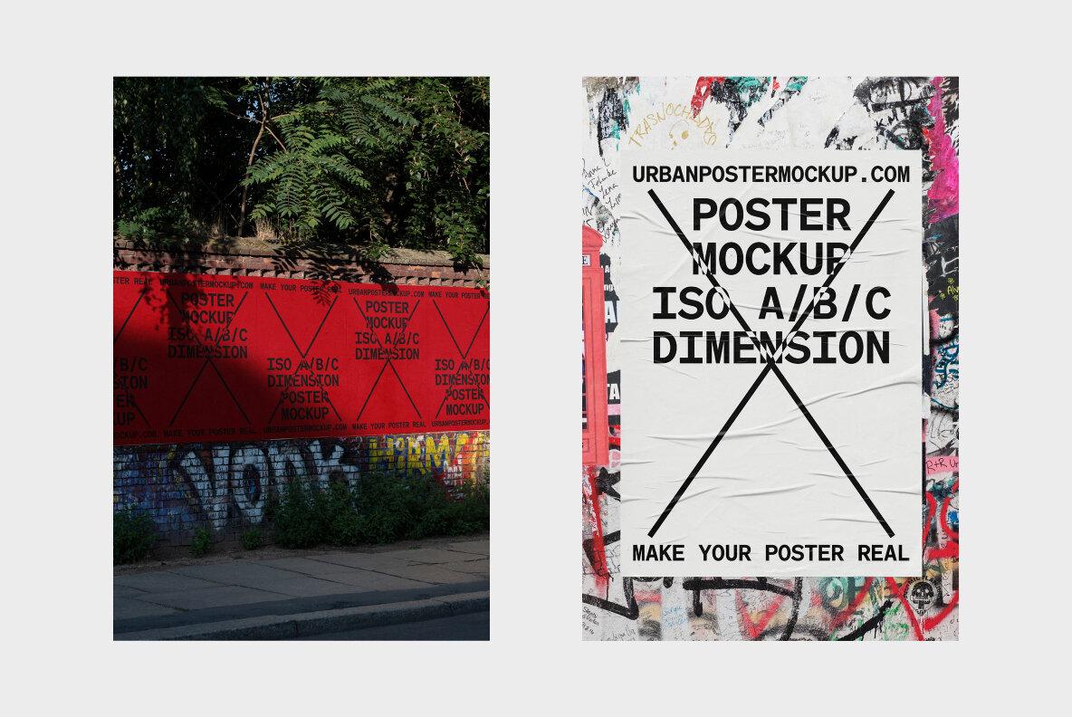 Urban Poster Mockup Vol 4