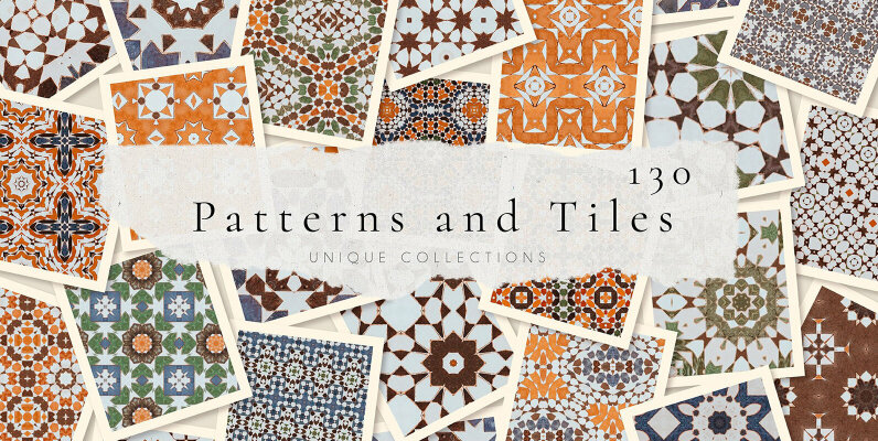 Moroccan 65 Patterns and 65 Tiles