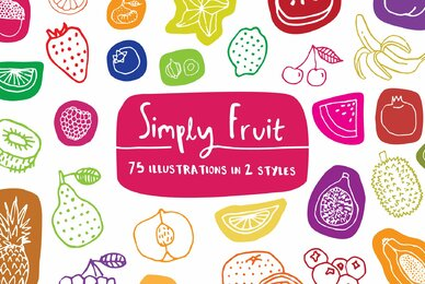Simply Fruit Illustration Pack