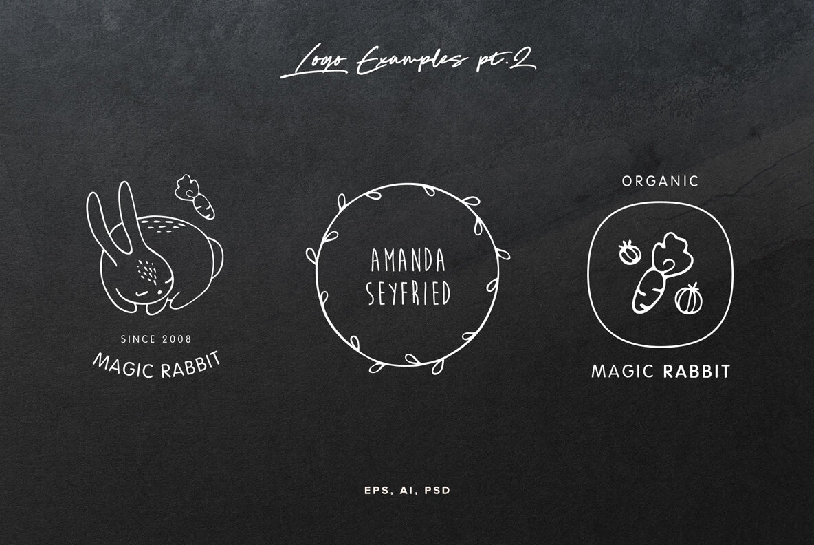 50 Hand Drawn Logo Elements