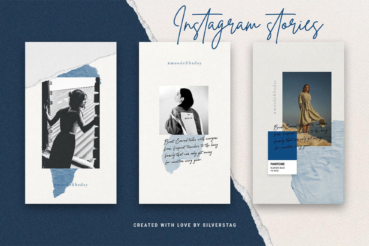 InstaBlue   Minimal Instagram Stories
