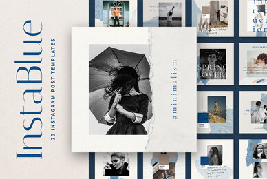 InstaBlue   Minimal Instagram Post Templates