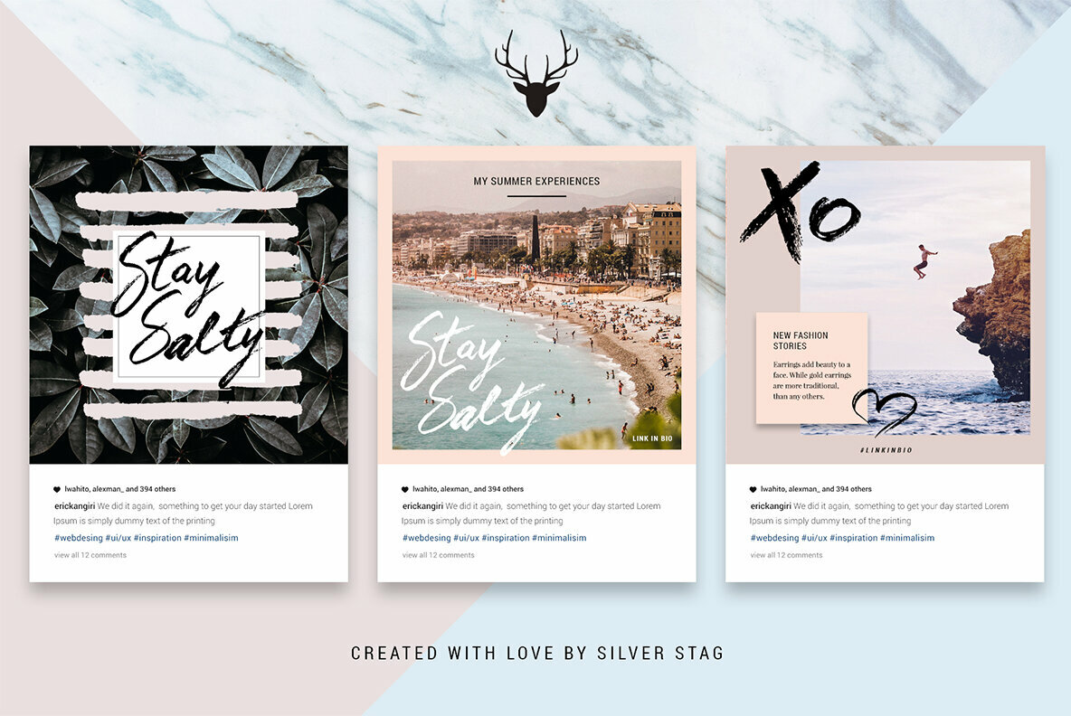 Animated Hand Drawn Instagram Post Templates