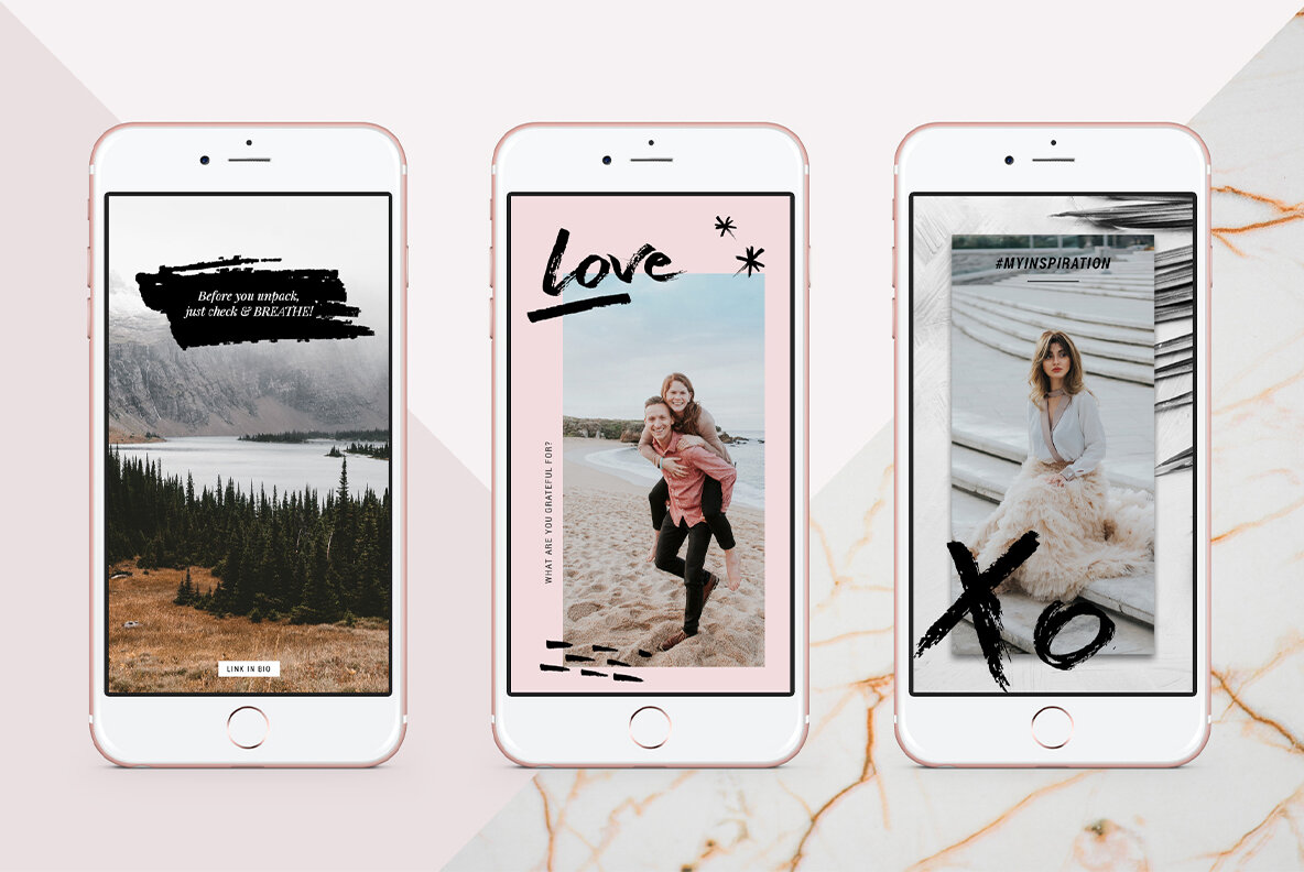 Animated Modern Instagram Stories With Hand Drawn Elements