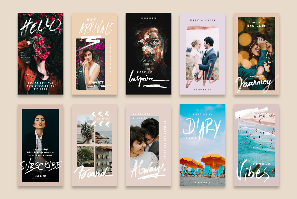 Rose Gold Instagram Stories Pack