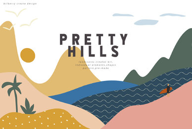 Pretty Hills   Landscapes Kit