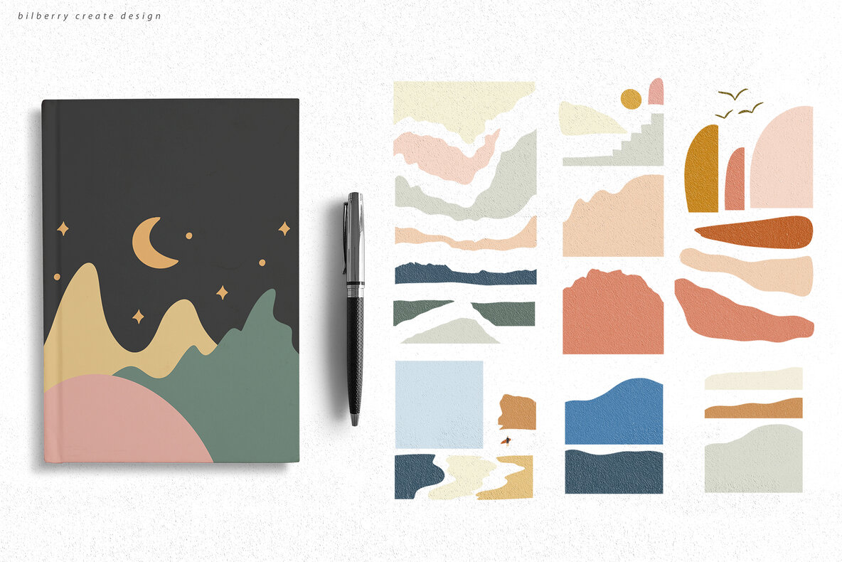 Pretty Hills   Landscapes Kit