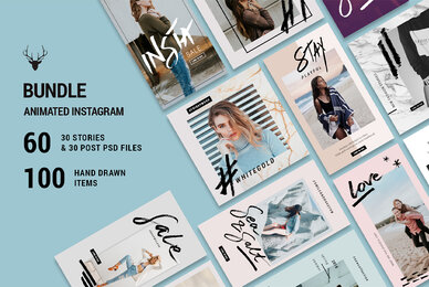 Mini Bundle Animated Instagram Posts  Stories Pack