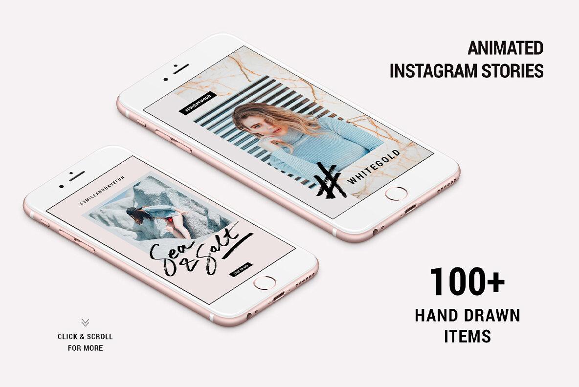 Mini Bundle Animated Instagram Posts   Stories Pack