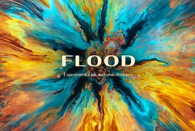 Flood   Ink  Resin Textures