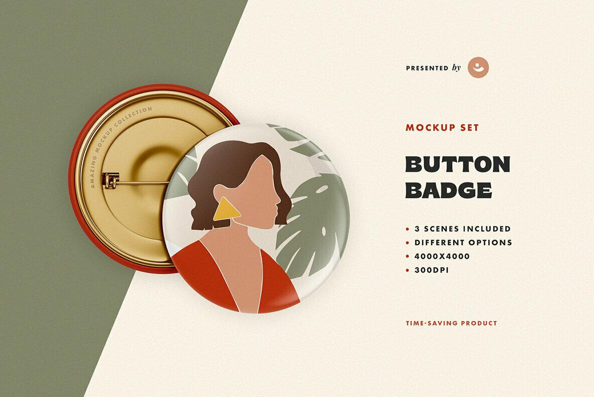 Button Badge Mockup