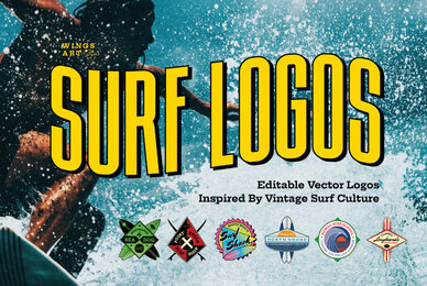 Vintage Surf Logo Design Templates