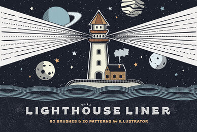 Lighthouse Liner Brushes for Illustrator
