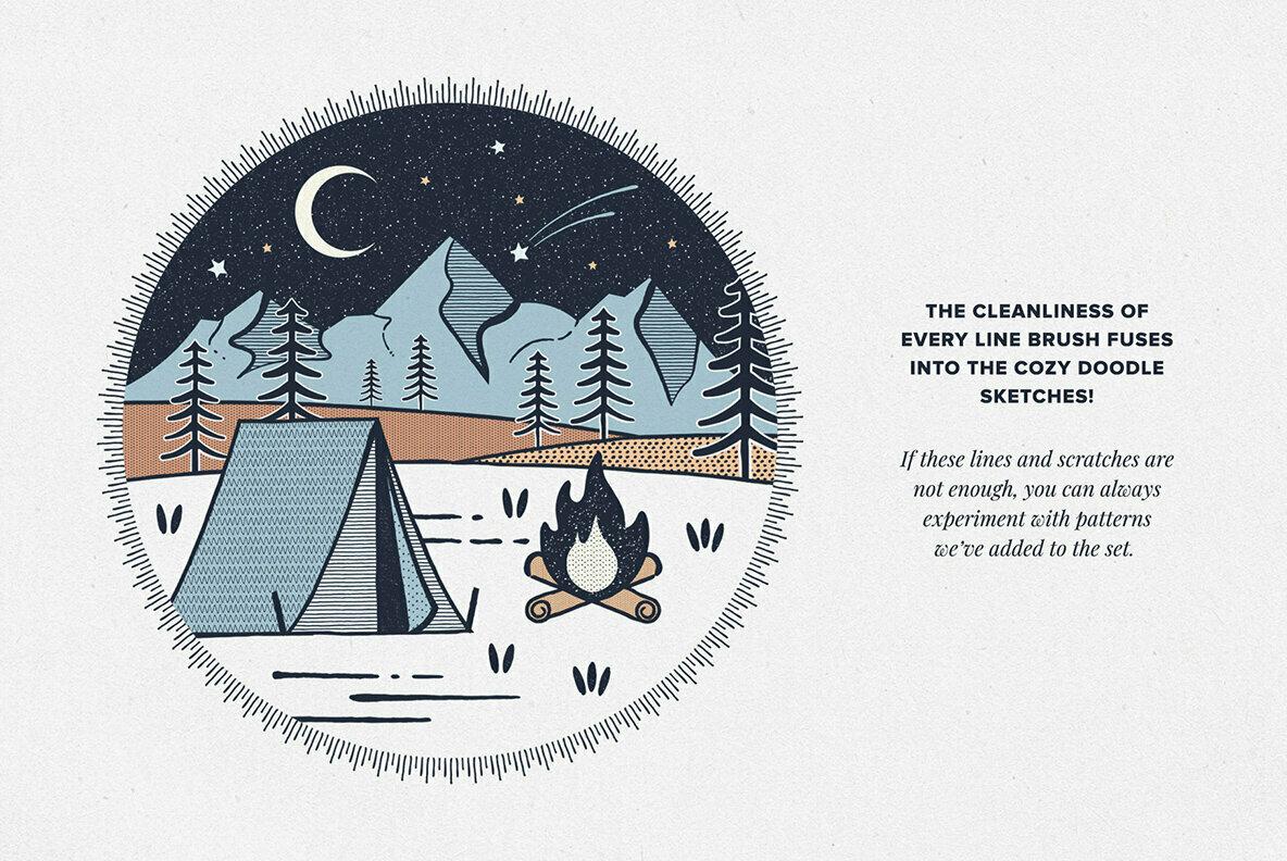 Lighthouse Liner Brushes for Illustrator