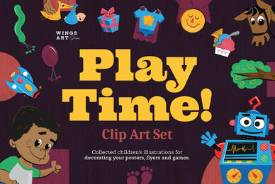 Playtime Clip Art Set