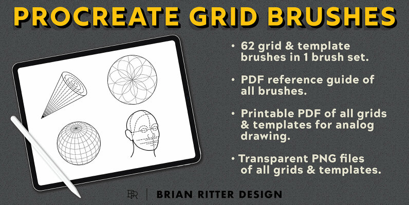 Drawing Grid Brushes for Procreate
