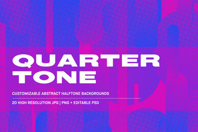 Quarter Tone   Customizable Backgrounds pack