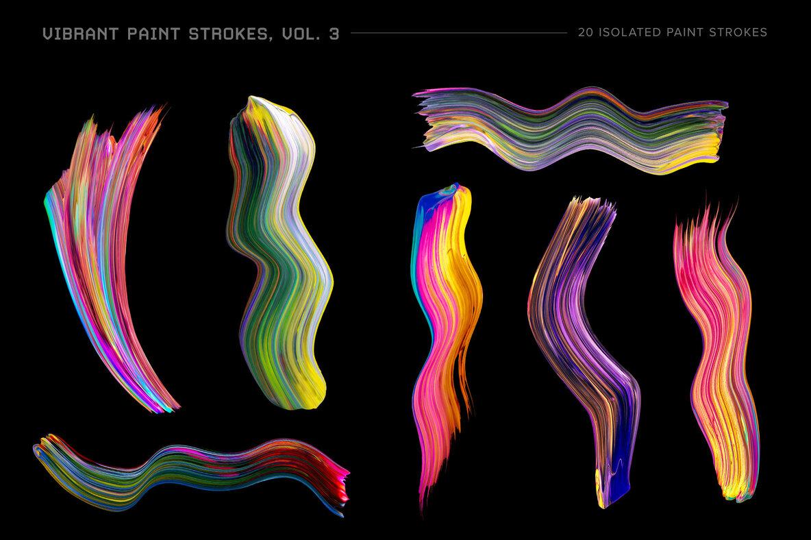 Vibrant Paint Strokes Vol  3
