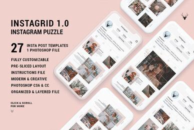 InstaGrid 1 0   Instagram Puzzle Template