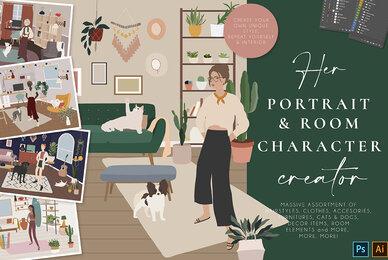 Her Portrait Room Character Creator