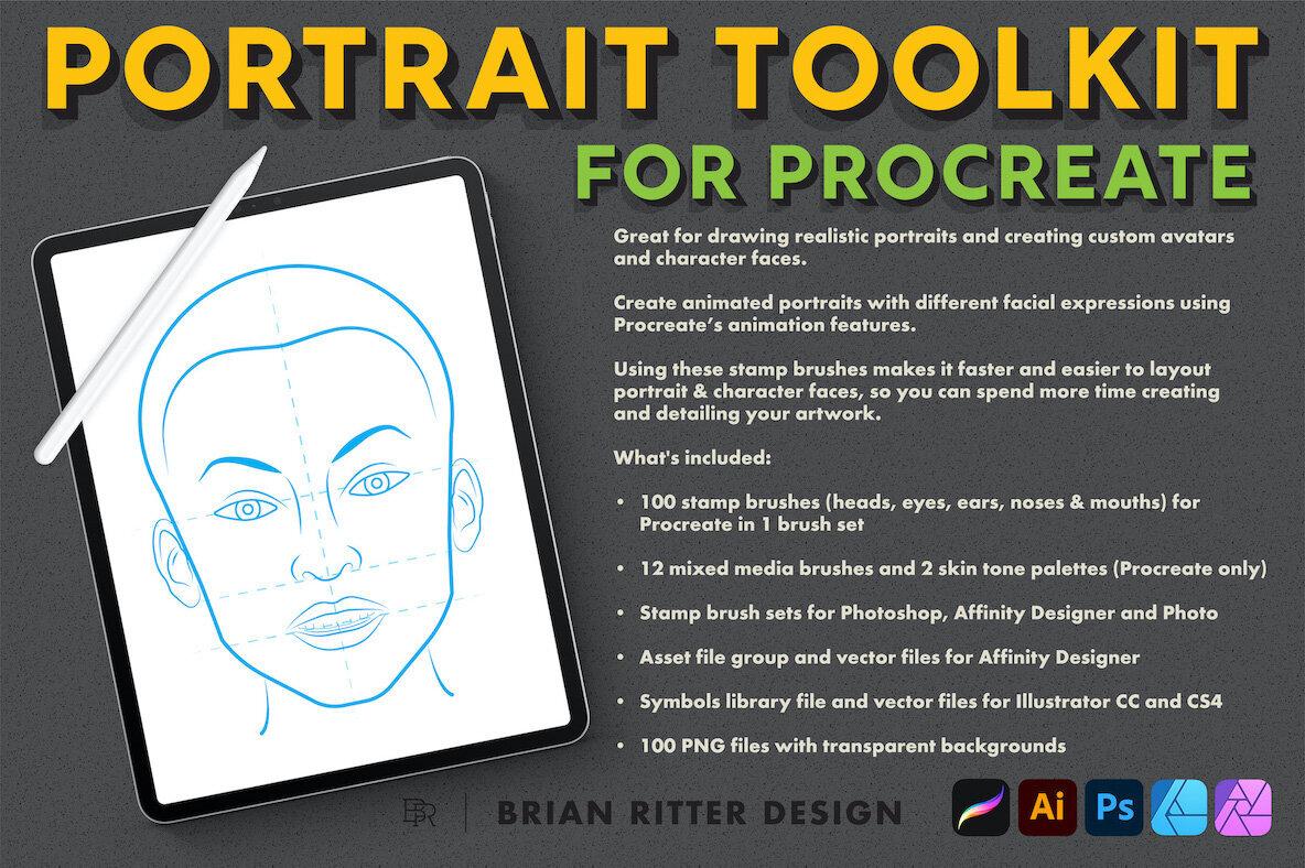 Portrait Toolkit for Procreate